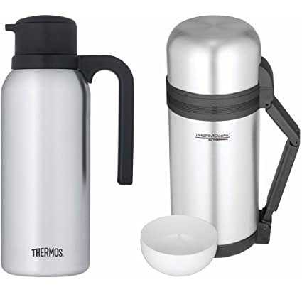 38b9a868e2 Amazon.com: Thermos 32oz Compact Carafe w/1.3 qt/1.2 L Food ...