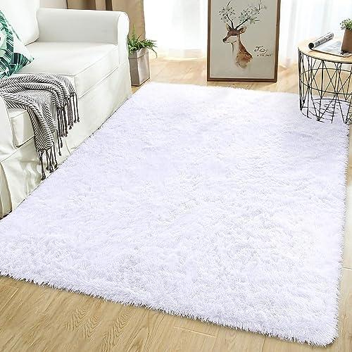 Softlife Fluffy Bedroom Area Rugs 5.3 x 7.6 Feet Shaggy Nursery Rug