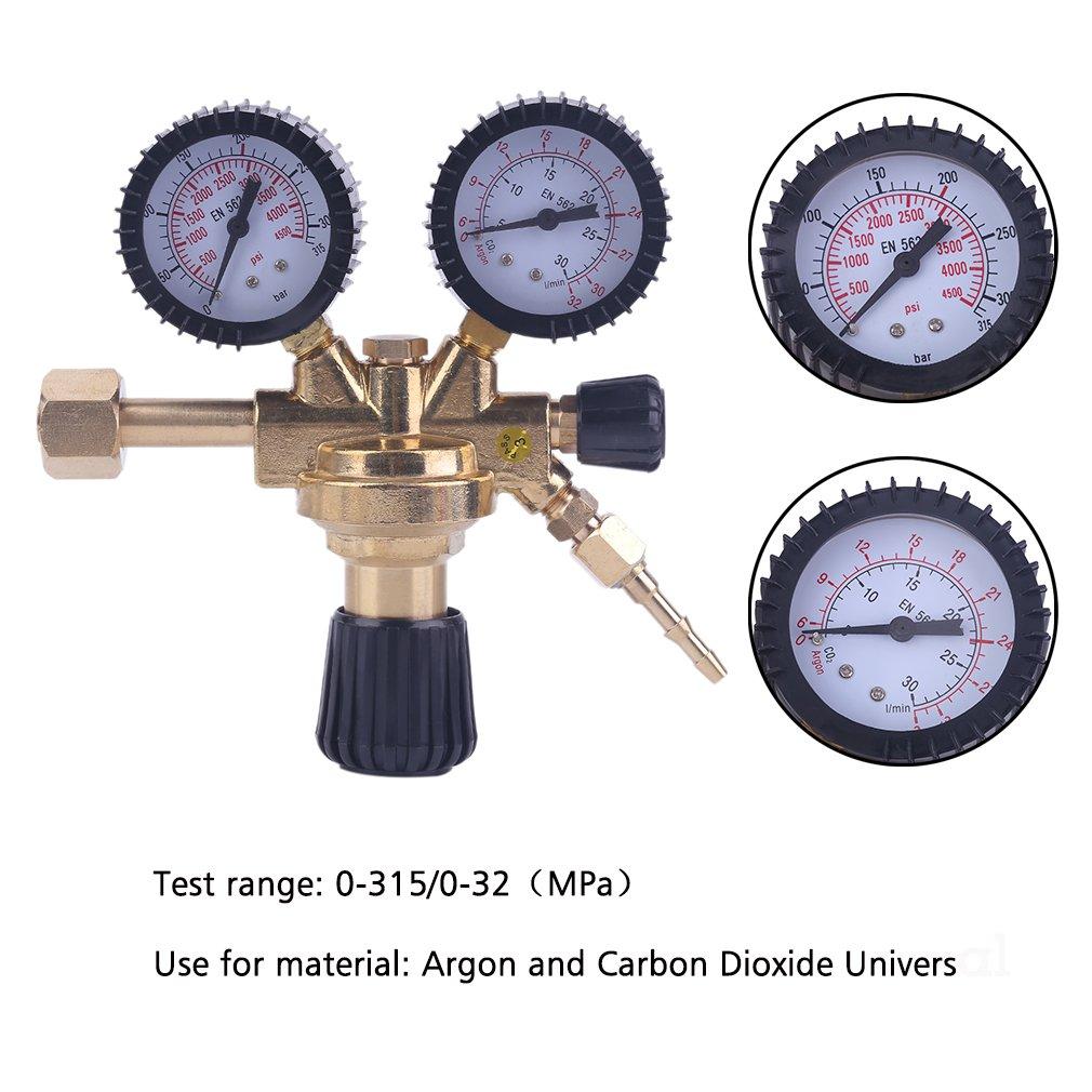 Druckminderer Druckregler f/ür Argon//CO2 Schutzgas zu MIG//MAG//WIG//TIG Schwei/ßger/ät
