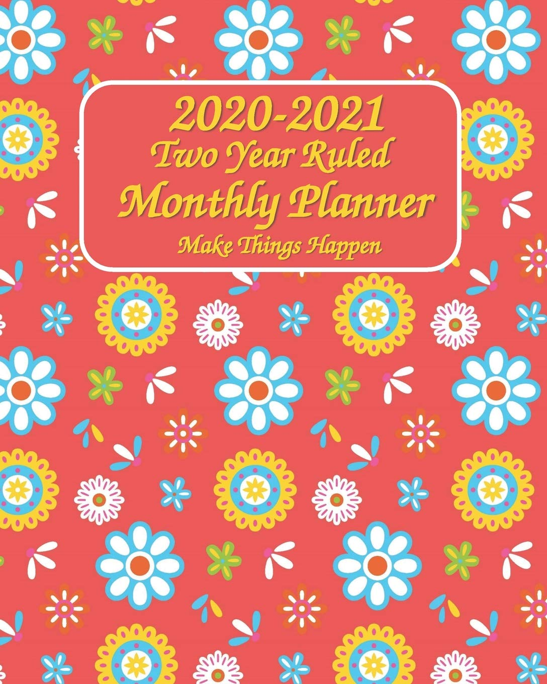 Amazon.com: 2020-2021 Two Year Ruled Monthly Planner Make ...