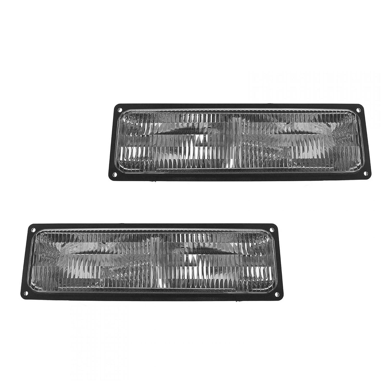 Parking Signal Marker Blinker Light Pair Set for 84-96 Cherokee Pickup Truck