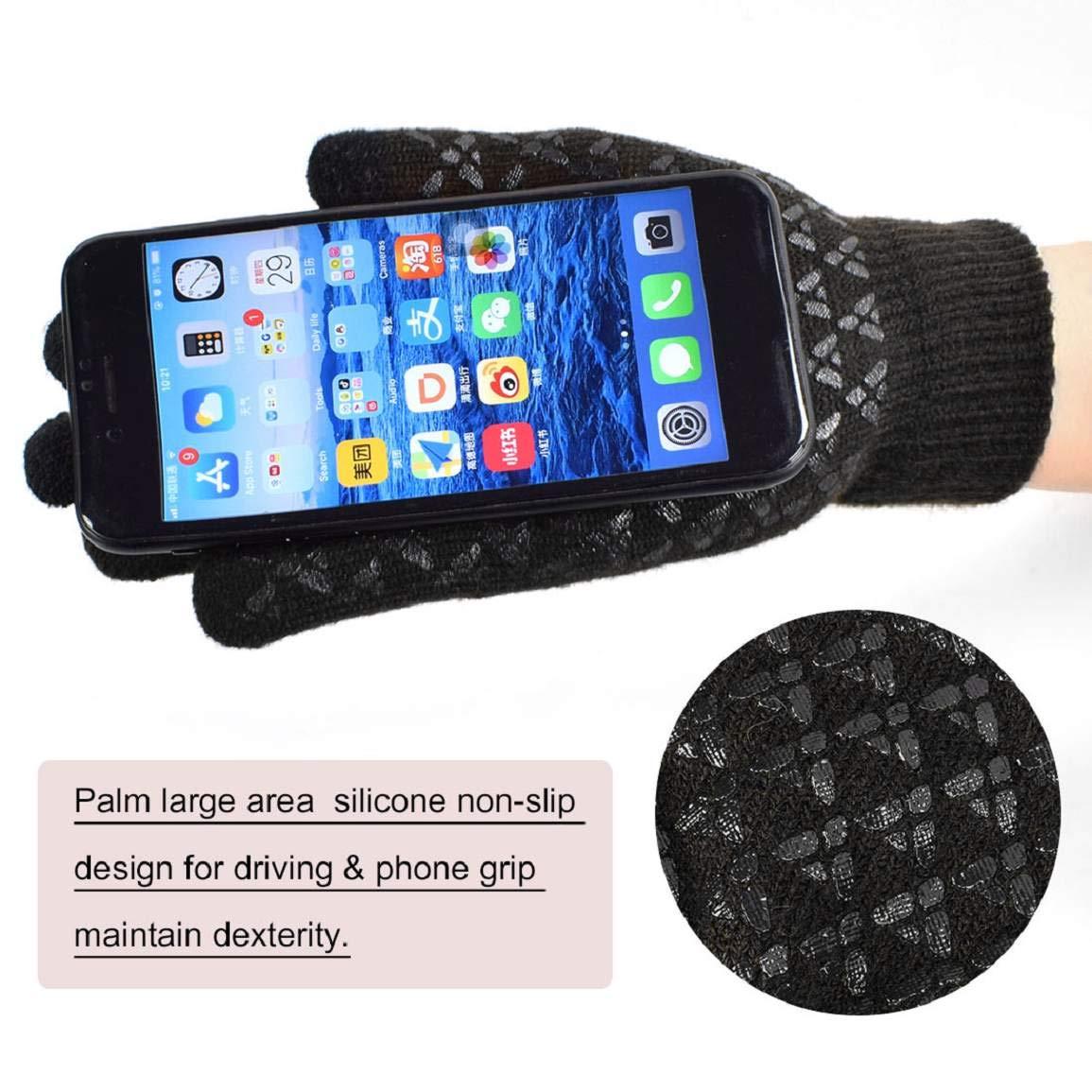 Yuson Girl invernali nero-B Taglia unica set di guanti lavorati a maglia Set di sciarpe sciarpa e berretti