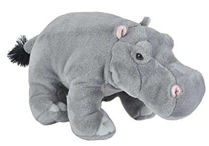 Amazon Com Wild Republic Hippo Plush Stuffed Animal Plush Toy