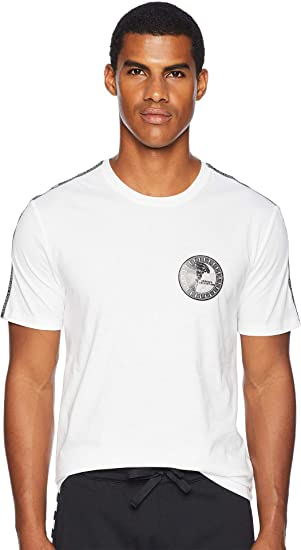 fff25ab65841 Amazon.com  Versace Collection Mens Taping Detail Tee  Clothing