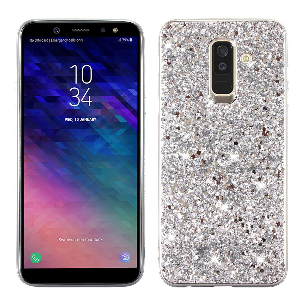 a13d1cd5ed5c ... GUANHAO Silicon TPU Impact Resistance Fashion Soft Glitter Popularity  Anti-Slip Luxury Smartphone Case for Samsung Galaxy A6 2018 5.6