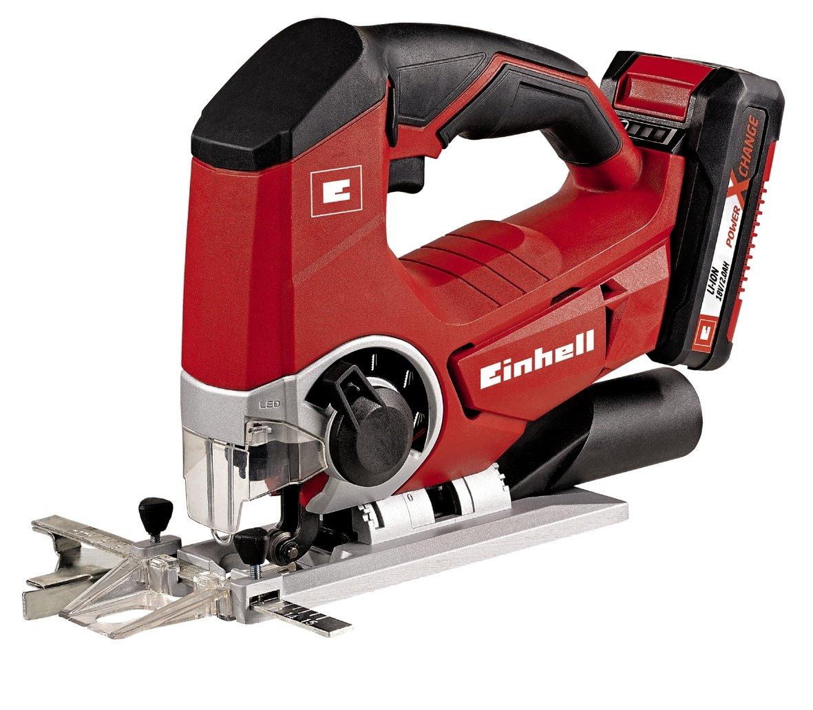 Einhell 4321203 Kit con sierra de calar, batería y cargador, 0 W, 0 V, Negro, Rojo, 2.0 Ah