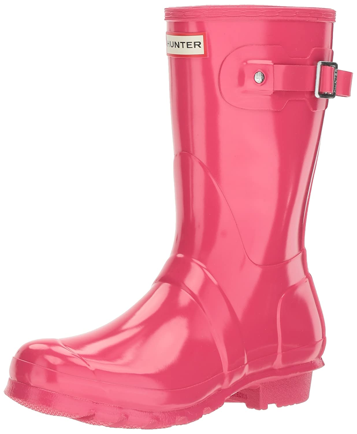 Gloss Bright Pink Hunter Original Short Boot Snow Boot
