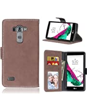 BONROY Case,LG G4 Beat / G4s / G4 s / H735 Flip Leather Case, Shockproof Bumper Cover and Premium Wallet Case for LG G4 Beat / G4s / G4 s / H735