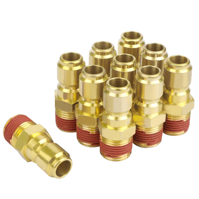WYNNsky Pressure Washer Quick Connect Plug, 3/8 Inch NPT Male Threads Size, Brass Material by WYNNsky