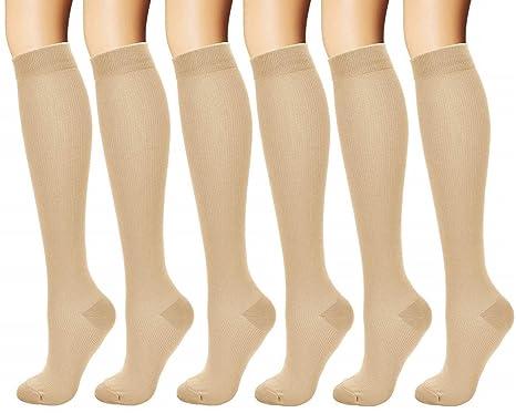 Amazon.com: Tarusky Calcetines de compresión para mujeres y ...
