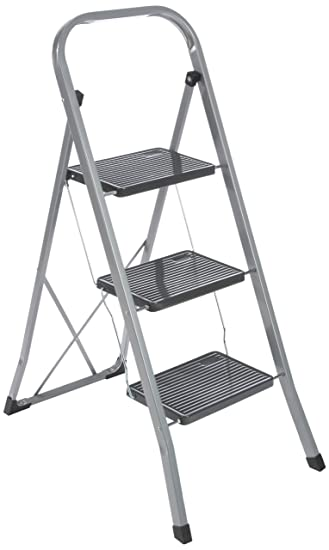 Axentia Trittleiter 3 Stufen Klappbar Klapptritt Aus Metall Mit