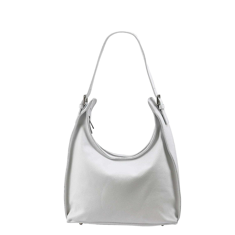 SH läder axelväska i äkta läder axelväska handväska av vanärvat läder 37 x 24 cm Dora G679 Vit