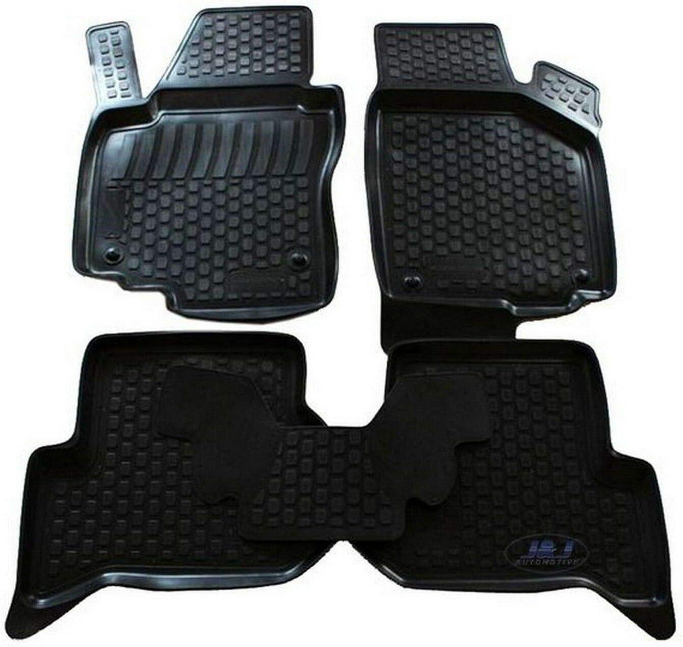 J/&J Automotive Alfombra de suelo de goma 3D exclusiva compatible con Seat Altea XL 2006-pr/és