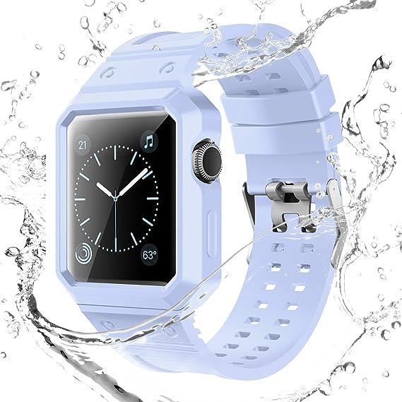 more photos 21fe5 fd0be Ykunjade TPU Sports Waterproof For Apple Watch Band Series 1 Series 2  42MM-Light Purple