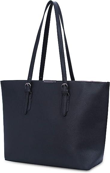 David Jones - Bolso de Mano Grande Mujer - Tote Bag Shopper Piel PU - Bolso de Hombro Trabajo Shopping Gran Capacidad Cuero - Bolso de Compras Asa Larga - Escuela Estudiante
