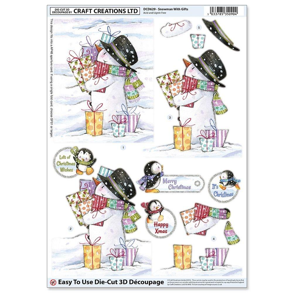 Line 500 Craft UK A4 Die Cut Decoupage Sheet Christmas Presents