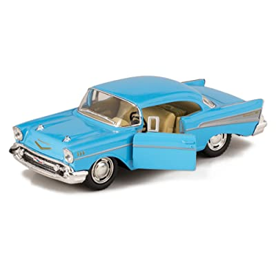 KiNSMART Blue 1957 Chevy Bel Air Die Cast Toy with Pull Back Action: Toys & Games