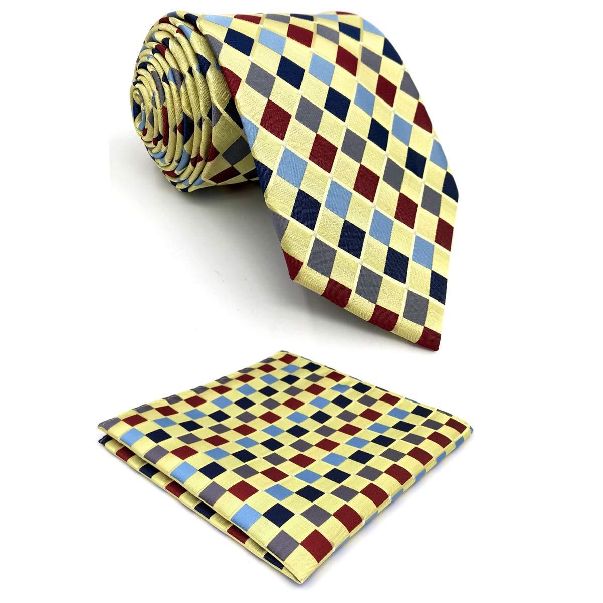 shlax&wing Designer Amarillo Multicolor Corbatas Para Hombres Seda ...