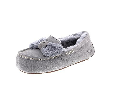 b63303b1b27 UGG Women's Ansley Fur Bow Geyser Loafer: Amazon.ca: Shoes & Handbags