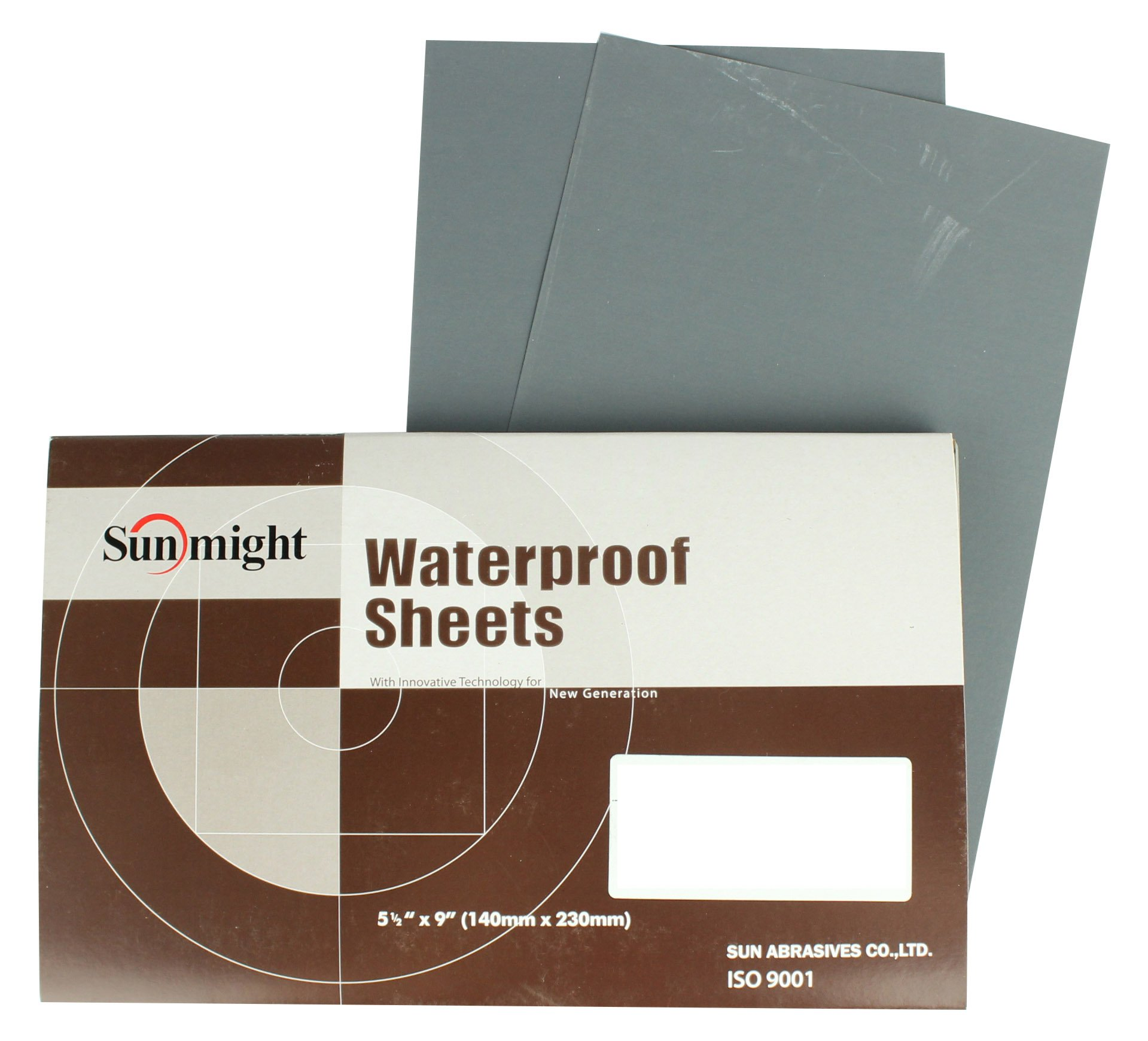 Sunmight 07224 1 Pack 5-1/2'' X 9'' Plain Sheet (Waterproof Grit 2500)