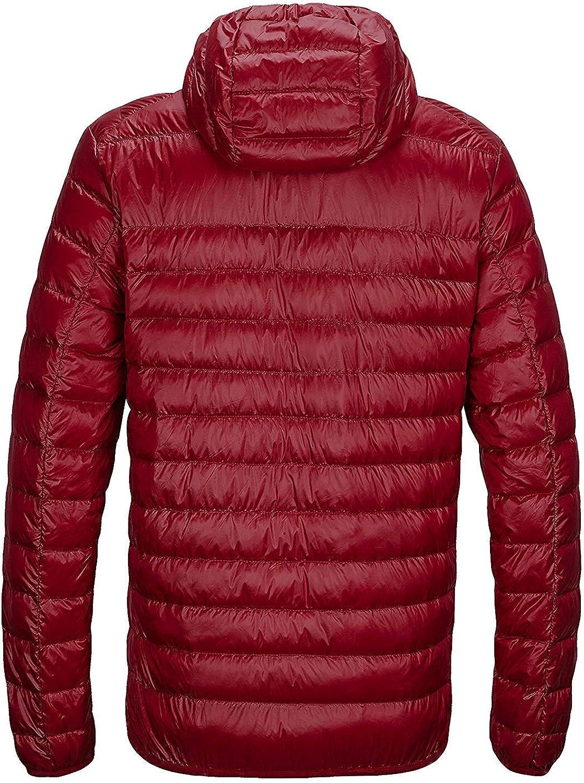 Wofupowga Mens Warm Outwear Hooded Winter Packable Puffer Down Parka Coat