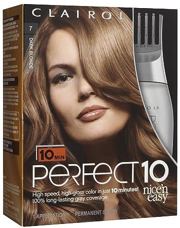 Amazon clairol perfect 10 by nice n easy hair color 007 clairol perfect 10 by nice n easy hair color 007 dark blonde solutioingenieria Choice Image
