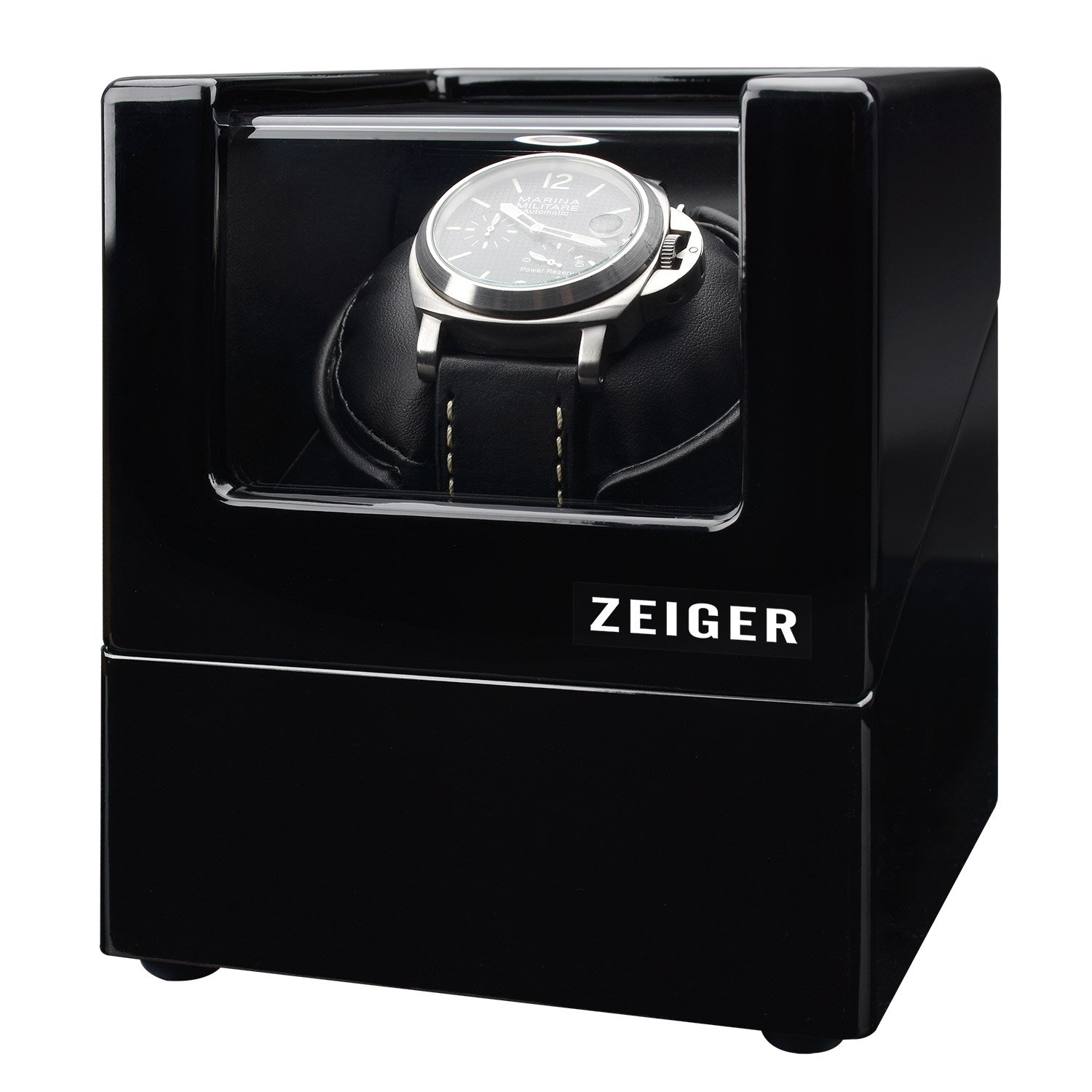 Zeiger Single Watch Winder for Large Watch Box Case with Quiet Automatic Japanese Mabuchi Motor Piano Paint s003