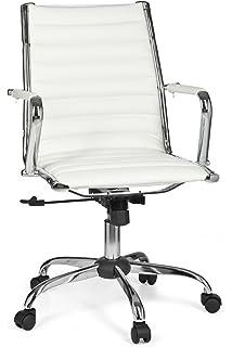 Schreibtischstuhl weiß leder  hjh OFFICE 720024 Bürostuhl Chefsessel Pariba I Leder weiß, hohe ...