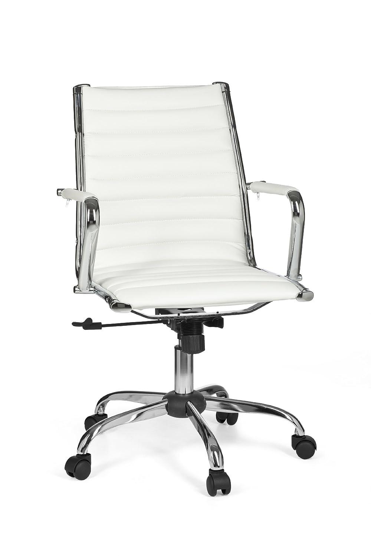 Bürostuhl weiß  Amstyle Bürostuhl GENF 2 Bezug Kunst-Leder Design ...