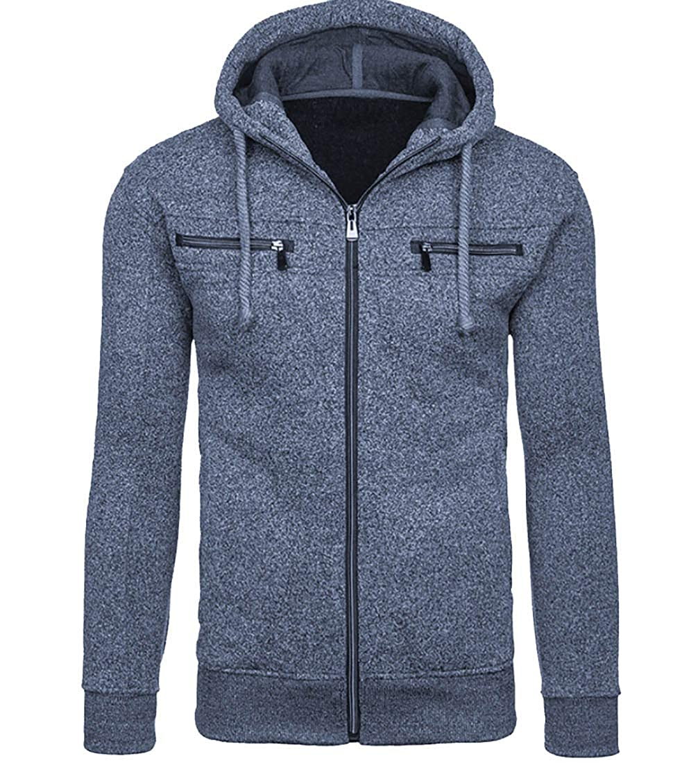 7d134e5095a Navy bluee maweisong Men's Warm Hooded Cotton Fleece Slim Hoodie Hoodie  Hoodie Tops Sweatshirt c4e471