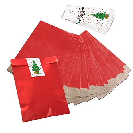 Bolsa de joyas bolsas de bolsas de papel Papel 25 pequeñas Mini rojas (17,
