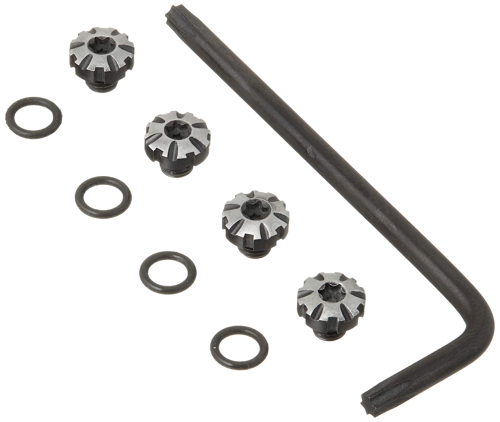 E Gun Grips 1911S-4-D Precision Milled Stainless Steel Grip Screw Set, Brushed Night