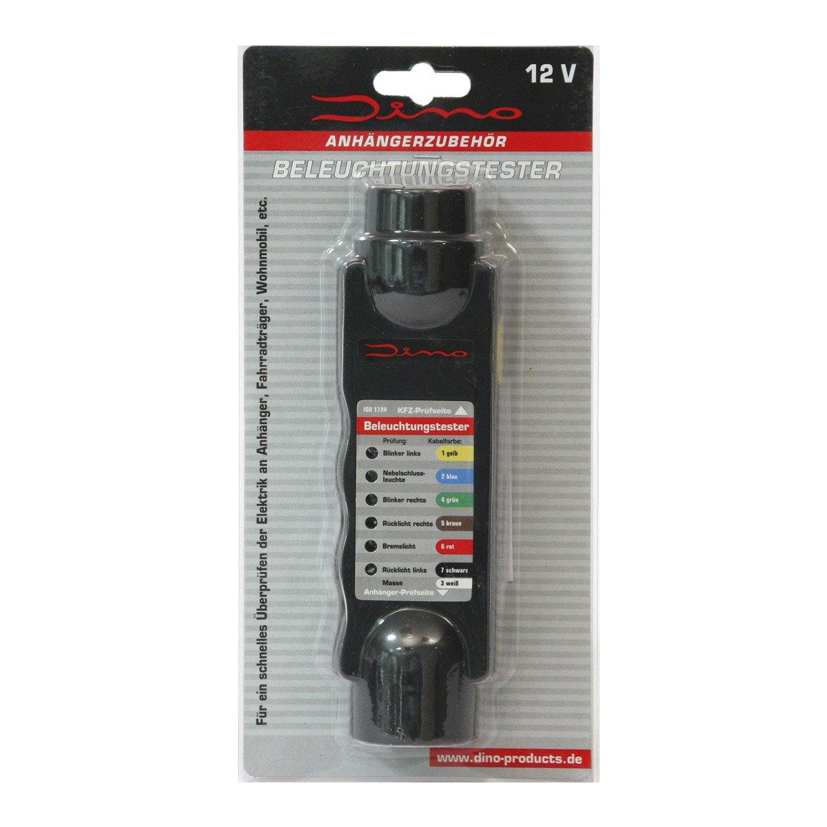 Dino Beleuchtungstester Prüfgerät Anhänger Stecker Adapter 7 13 polig 12 Volt