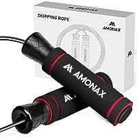 Amonax Springtouw voor volwassenen, springtouw voor mannen en vrouwen, snelheidstouw voor Crossfit training, thuis…