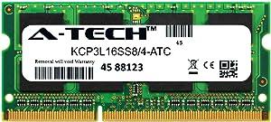 A-Tech 4GB Replacement for Kingston KCP3L16SS8/4 - DDR3/DDR3L 1600MHz PC3-12800 Non ECC SO-DIMM 1rx8 1.35v - Single Laptop & Notebook Memory Ram Stick (KCP3L16SS8/4-ATC)