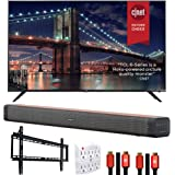 TCL 75R635 75-inch 6-Series 4K QLED Dolby Vision HDR Roku Smart TV Bundle with Deco Home Soundbar with Dual Subwoofers…