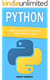 Python: Beginners guide for learning Python from scratch