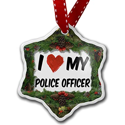 christmas ornament i love my police officer neonblond - Police Officer Christmas Decorations