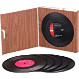 6 PCS Record Coasters for Drinks with Gift Box, Colorful Retro Vinyl Disk Coasters with Funny Labels, Prevent Furniture…