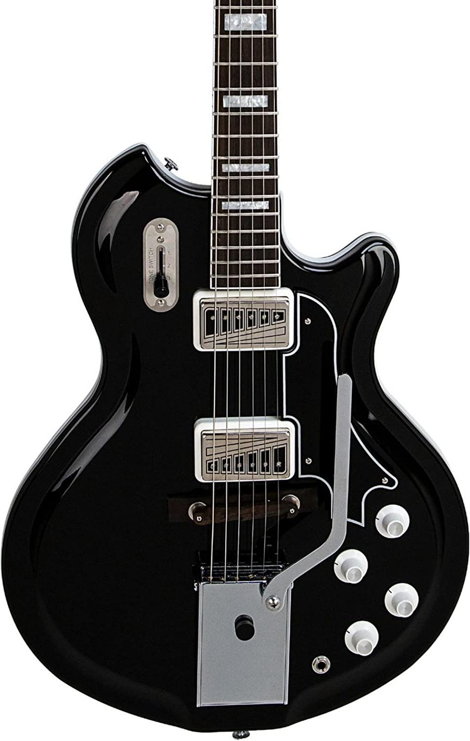 Supro Coronado II Vibrato Semi-Hollow guitarra eléctrica: Amazon.es ...