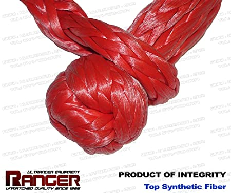 Ranger Soft Shackle Rope Dyneema Synthetic 1//2 Inch by Ultranger 42,000 LBs Breaking Strength, WLL 15,000 LBs
