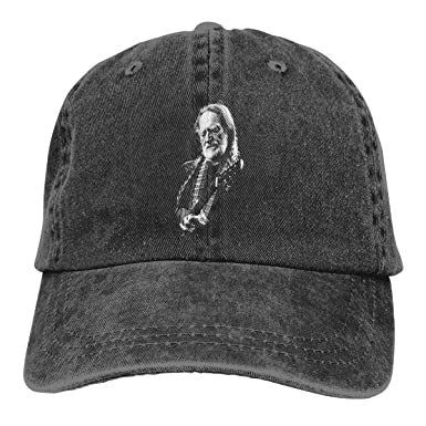 Hip Hop Cowboy Baseball Cap, Willie-Nelson Curved Plain Sun Hats ...