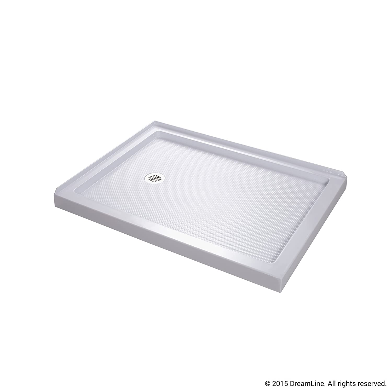 Good DreamLine SlimLine 36 In. X 48 In. Double Threshold Shower Base, Left Hand  Drain, DLT 1036481     Amazon.com