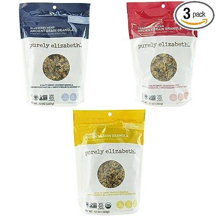 Variedad de granola de grano antiguo Purely Elizabeth ...