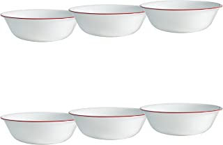 product image for Corelle Livingware 6-Piece Ruby Red Bowls Set, 18-Ounce, White