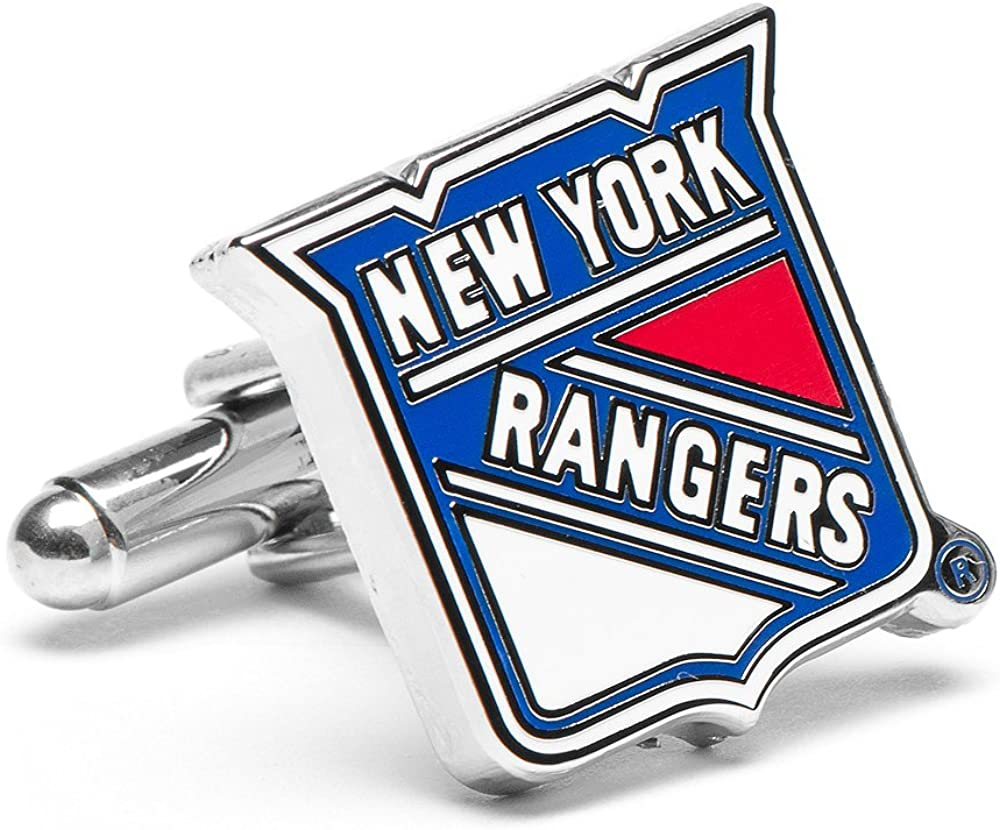 NHL New York Rangers Cufflinks, Officially Licensed