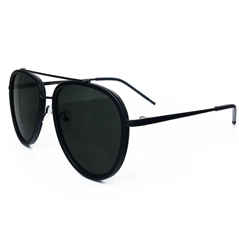 a8b5afb8d O2 Eyewear 66449 Premium Aviator Vintage Hippie Retro Womens Mens Sunglasses  (BLACK LENS, BLACK-frame): Amazon.in: Home & Kitchen