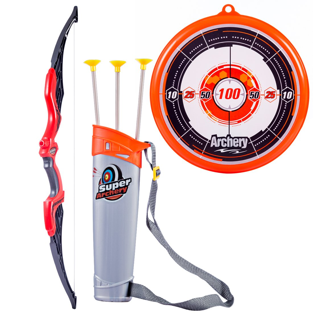 ANNA SHOP Bow and Arrow Set for Kids Toy Archery Set with Target Soft Sucker Arrow with Holder