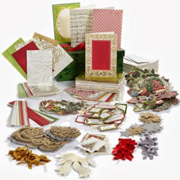 Marvelous Anna Griffin Holiday Trimmings Christmas Card Making Kit   Makes 60 Cards