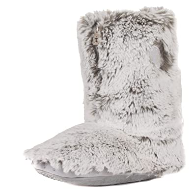 bedroom athletics women s cole luxury faux fur slipper boots amazon rh amazon co uk Men's Down Slipper Boots Men's Fleece Lined Slipper Boots